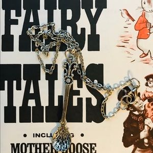 """Fairy tales silver spoon with  tiny set 19"""" chain"""